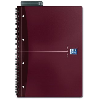 Collegeblock OFFICE BOOK, lin.7mm, A4+, 90g/m², Einband: sort., 90Bl.