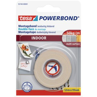 Montageband POWERBOND® INDOOR, sk, 19 mm x 1,5 m