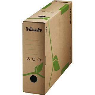 Archivbox ECO, Wellpappe (RC), A4, 8 x 32,7 x 23,3 cm, naturbraun